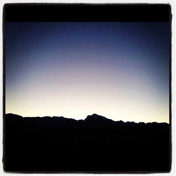今年最初の日が沈む(^^)
