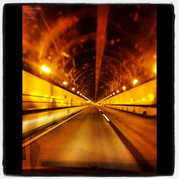 sasago崩落事故後 全面開通した笹子トンネル上り線にて。