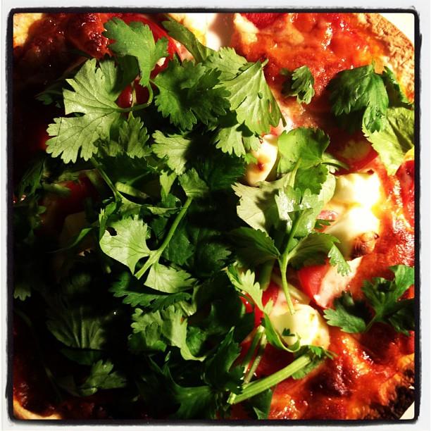 margherita hishimoの新着・パクチーマルゲリータ!クリームチーズ、トマトにパクチーをあわせた パクチー好きのためのピッザとなっております(^^)