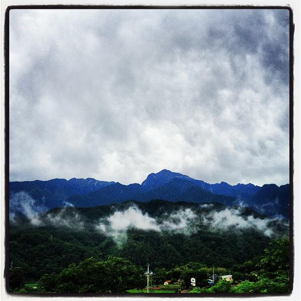 Morning. 何とか雨が上がったけれど 少し肌寒い朝です^^ 今日は何とか作業ができそうです。…さて何処まで!
