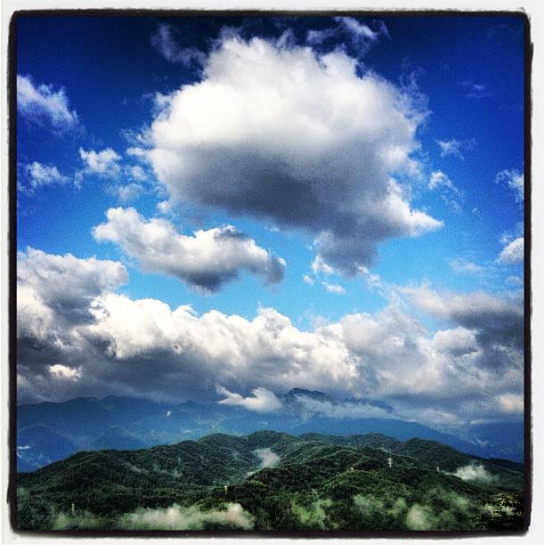 Morning 雲が多めの涼しい朝です(^^)