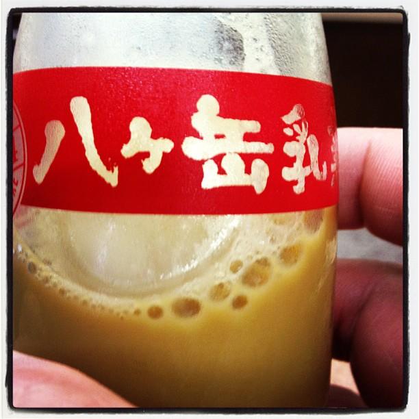 coffee milk 湯上りの牛乳は腰に手をあてて(^^)コーヒー牛乳だけだ。