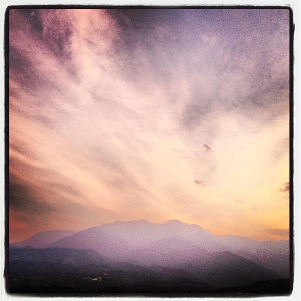 daylight 夕焼けが南アルプスを いい感じに染めています(^^)