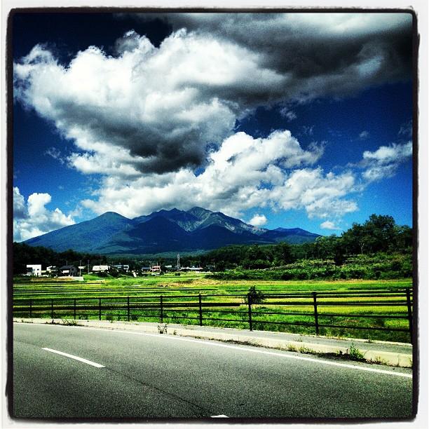mt.yatsugatake 移動中に見えた八ヶ岳が綺麗だったな(^^)