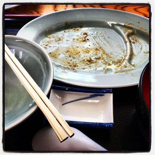 set meal 久しぶりの味亜で もつ焼き定食+ミニラーメン+焼き餃子(^^)