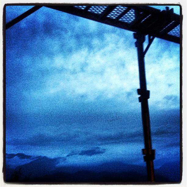 staging 今日の足場(^^) 雲多く 夕陽は見えませんでした^^;