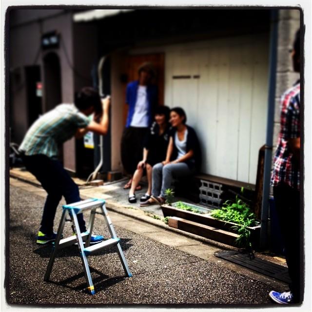 shooting shimokitazawa*baseでは朝からインタビューと撮影に利用して頂きました^^ 詳細はまだお伝え出来ませんが••^^;