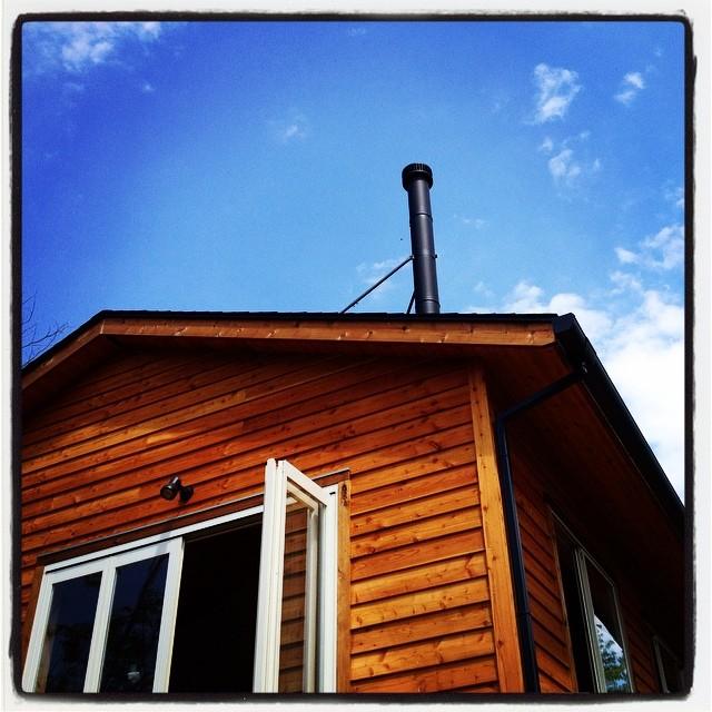 chimney煙突がのびた^^