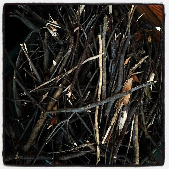 fatwood 薪ストーブ用の小枝の焚きつけは 取り敢えず困らない^^nagasaka*baseの敷地内に落ちている小枝を集めるだけで 結構な量になるのと 今のところは敷地の木を伐採した時の残りがまだ山になっているので^^ 来年 mountain*mountainがオーブしたら少しだけ状況は変わるかもしれませんが^^;