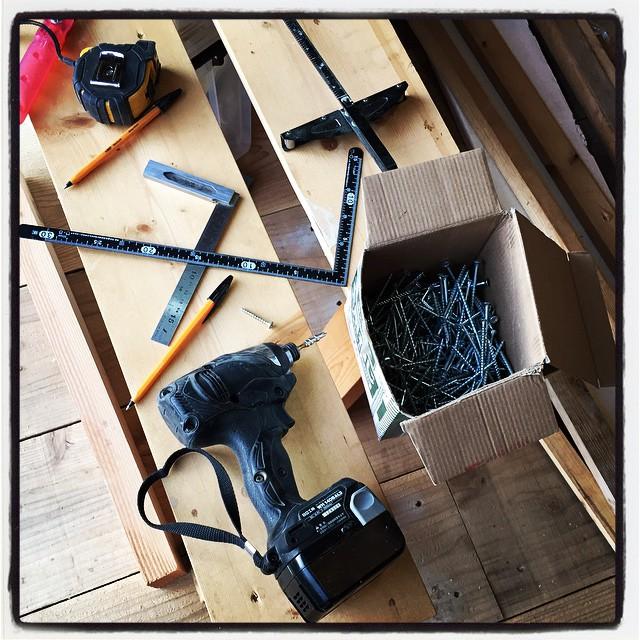carpenter's tool 毎日のように使っている道具たち^^ 1ミリ 2ミリのズレが後になって大きな皺寄せがくるので まずは慎重に^^