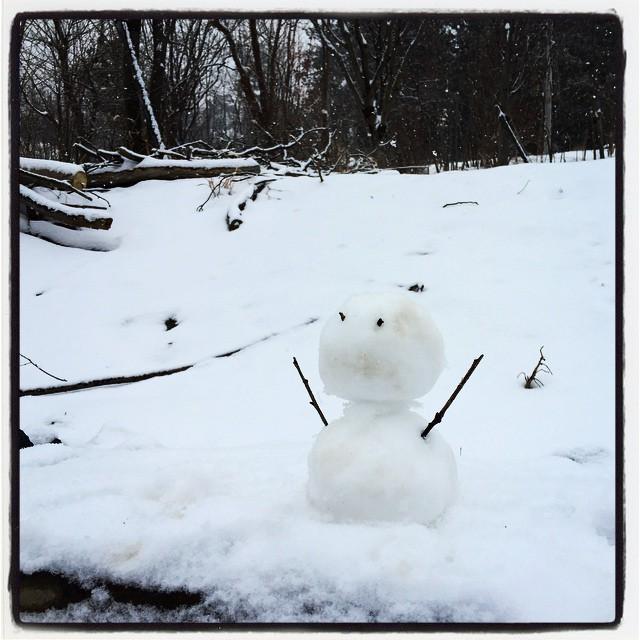 low-quality snowman ^^; 雪だるま^^ クオリティの低いやつができました^^;