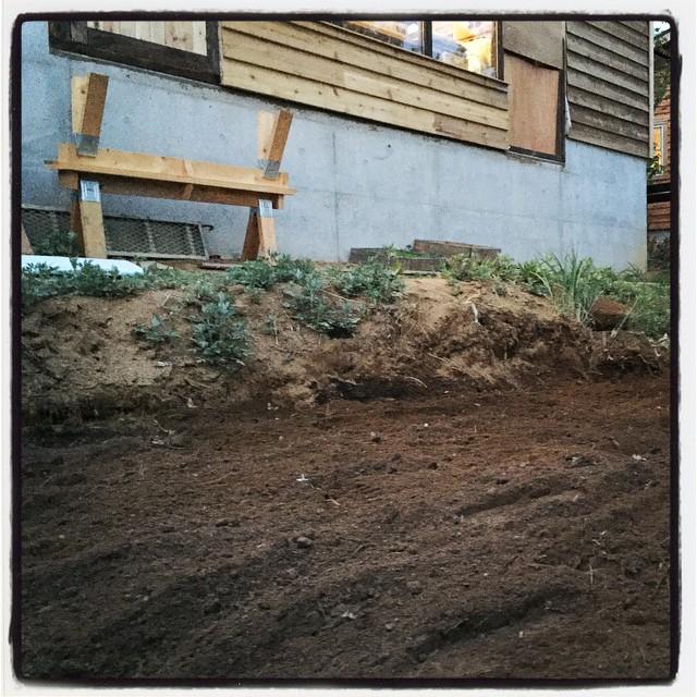 plow a field 畑に植えるための野菜の苗を購入^^トマト、ミニトマト、キュウリ、ナス、オクラ、ピーマン、パプリカ、ししとう、唐辛子その他もろもろ^^ mountain*mountainの前にもハーブを植えるための小さな畑^^有機肥料を入れて 耕運機をかけました^^ポットで発芽させた苗を植え付ける予定^^ #nagasakabase #mountainmountain #そんなあなたはスパイシー
