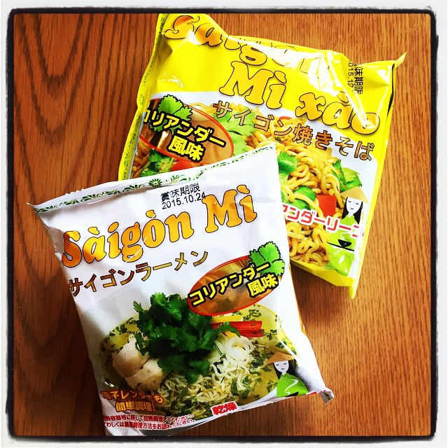phakchi noodleサイゴンラーメンにサイゴン焼きそば^^;乾燥コリアンダーリーフ付^^ 本格的トッピングをして メニューに載せるかな^^ #mountainmountain #nagasakabase #mtmt #そんなあなたはスパイシー