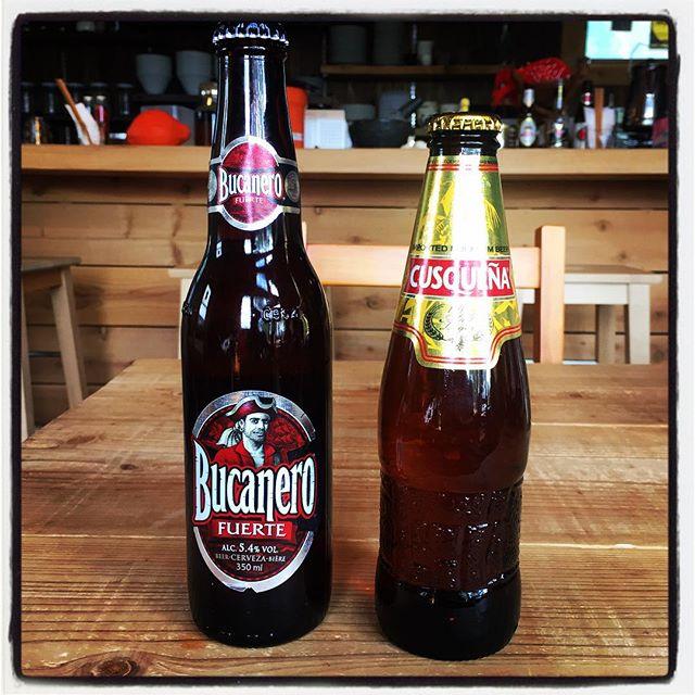 bucanero & cusquena 新しいビールが届きました^^ 中南米より二種類^^ キューバよりbucaneroもう一本はペルーよりcusquena数は極めて少ないです^^; #nagasakabase #mountainmountain #そんなあなたはスパイシー