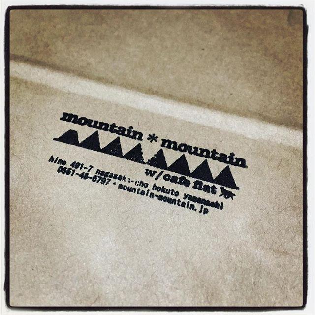 stamp 注文していたスタンプが出来上がってきました^^ とりあえず領収書や袋物に押して満足しています^^ #nagasakabase #mountainmountain #そんなあなたはスパイシー