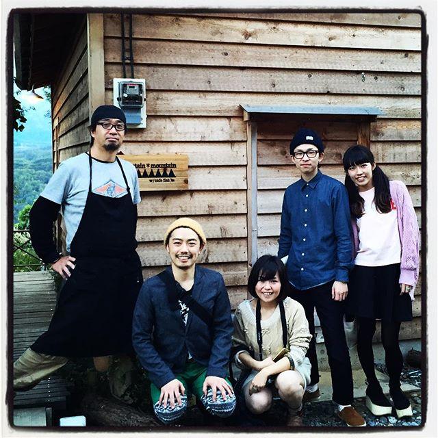 welcome 東京・下北沢のお店で出逢ったみんなが 遥々遊びに来てくれました^^ それぞれ忙しいのに ありがとう!#nagasakabase #mountainmountain #そんなあなたはスパイシー #beek05