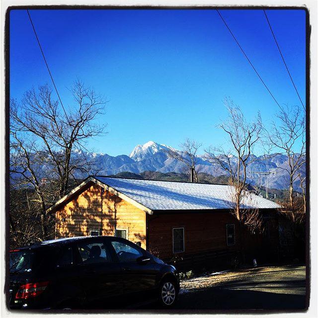 snow 山も屋根も白かった^^ #nagasakabase #mountainmountain #そんなあなたはスパイシー