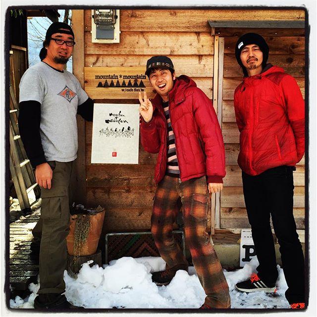 masa パクチーハウス東京で一緒にだったマサが 塩山の友人と一緒に遊びに来てくれました^^書家として活躍しているマサに mountain*mountainの書をいただきました^^ #mountainmountain #nagasakabase #そんなあなたはスパイシー #mountainlife