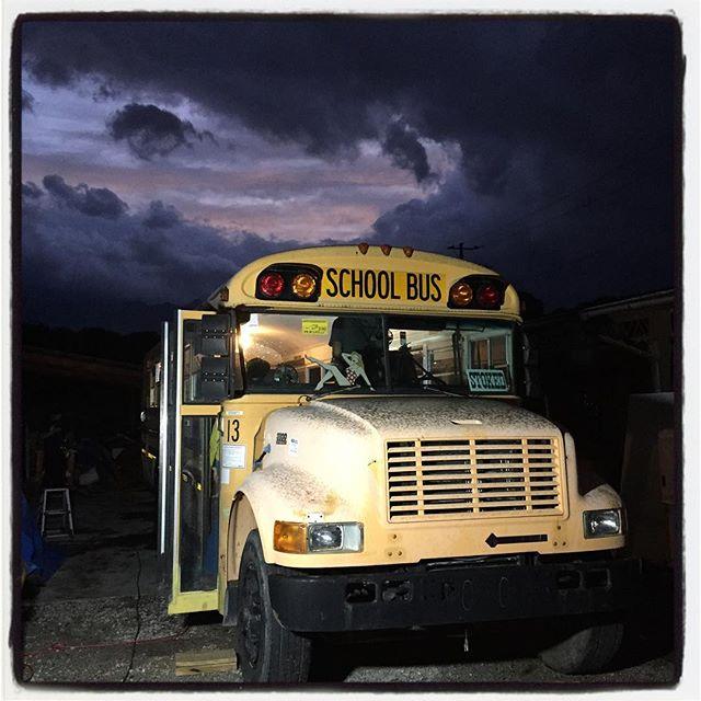 school bus 台風すぎての ちょっとだけの夕焼けとschool bus^^ #mountainmountain #nagasakabase #そんなあなたはスパイシー #mountainlife #8mountainworks
