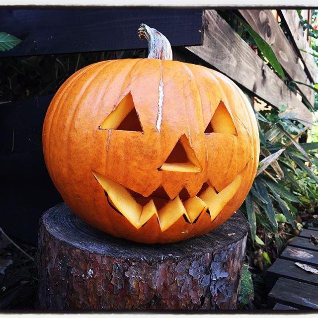 Halloween revenge入り口にカボチャ再び^^; #mountainmountain #nagasakabase #そんなあなたはスパイシー #mountainlife #Halloween