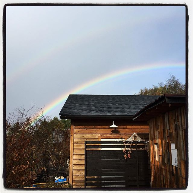 double 変な天気^^;一瞬だけ虹が出た!ダブル^^ #nagasakabase #mountainmountain #そんなあなたはスパイシー #rainbow #虹