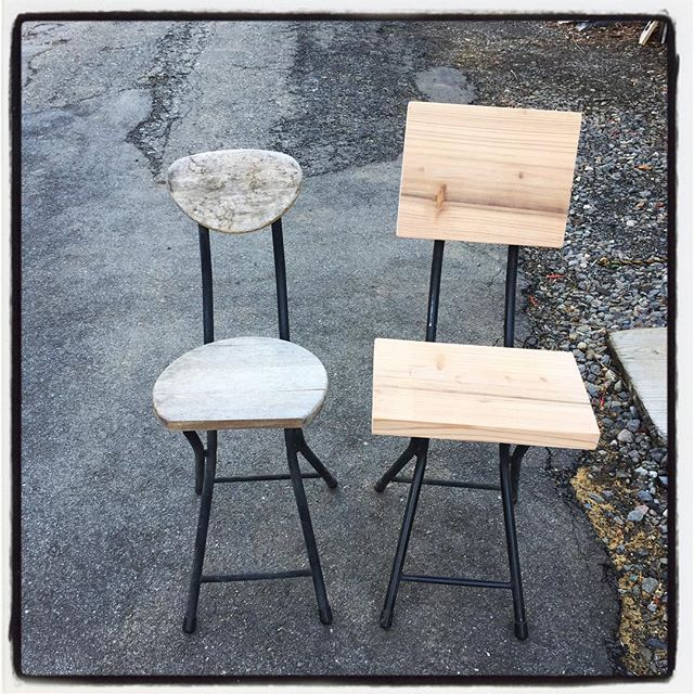 repair 昔からあった 折りたたみのパイプ椅子がヘタれて来たので リペア^^ 見た目よりもいい感じの座り心地^^ #mountainmountain #nagasakabase #そんなあなたはスパイシー #mountainlife #diy #repair