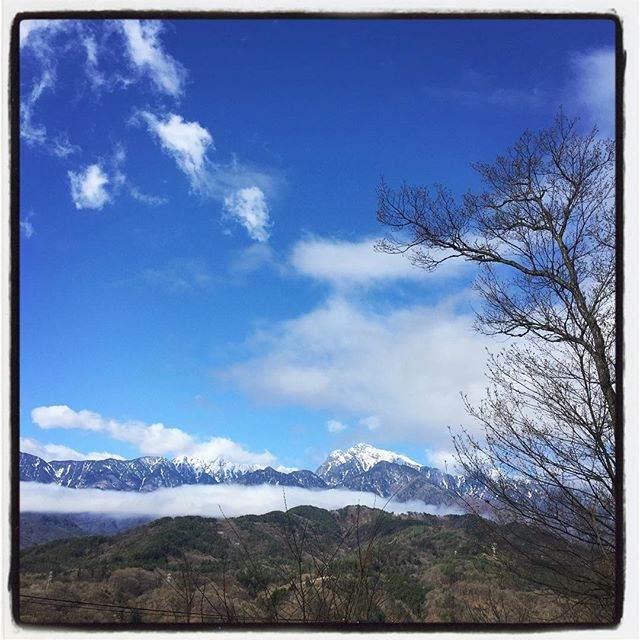 fine weather after the heavy rain まるで台風一過のような^^;青空が広がりました^^田んぼはまるで水を張ったようでした^^; #nagasakabase #mountainmountain #そんなあなたはスパイシー #mountainlife #kaikomagatake #甲斐駒ヶ岳