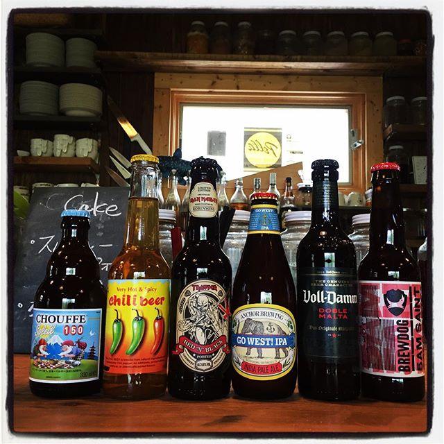 beer 連休後半 今日から日曜日まで mountain*mountain開いております^^ 宇宙IPAを始め 海外からのビールも多数届いております^^ 写真以外にも3-40本ほど!どれも1本づつの入荷なので 売切れたらまた次回^^; 自家製のフルーツビネガーも10種ほど^^自家製のレモネードやジンジャーシロップも美味しく上がってます^^ 11時30分から15時30分(LO)まで お食事していただけます!ディナータイムも 18時から営業^^ 店ではなくて何処か外で食べたい!という方にも ランチボックスお作りしてます!(事前にお電話いただければ助かります!) #mountainmountain #nagasakabase #そんなあなたはスパイシー #mountainlife #beer #worldbeer #楽しそうなビールがいっぱい