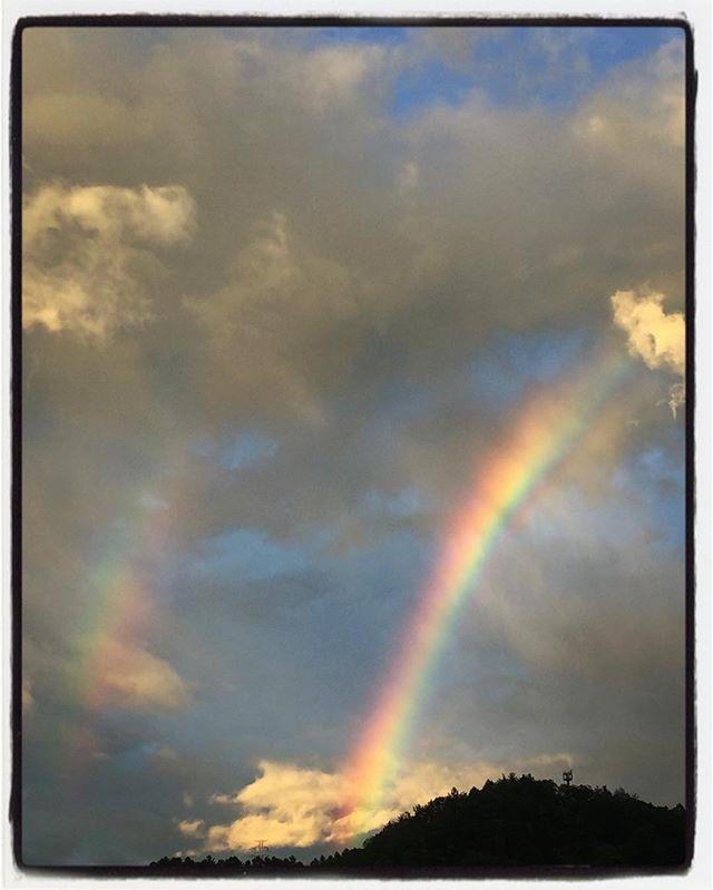 rainbow虹が出ていた^^ #hokuto #nagasakabase #mountainmountain #そんなあなたはスパイシー #rainbow