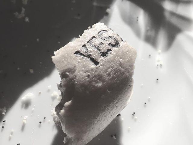 """bagel 今朝は朝食にベーグル︎ 白州にあるベーグル屋さんの山崎さん作る美味しいヤツを︎ 食べる前に撮り忘れたので """"yes""""の焼印部分だけで^^; 今日は 白州・ベルガのガラスドームにてイベント中なので 暖かく楽しめます︎ モチモチで 美味しいので是非!だだ 今年の営業は今日までなので また来年︎#yesbagel# bagel#mountain #mountain mountain #nagasaka #nagasakabase #yatsugatakebase #yatsugatake #そんなあなたはスパイシー #山梨 #北杜 #移住 #定住 #旅人 #vagabond #料理人 #chef #photographer #cameraman #カメラマン #写真家 #japan #food #料理 #foodpic #foodstagram #foodie #restaurant #kitchen #stories"""
